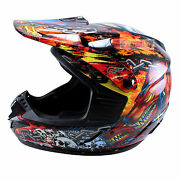 Fulmer Motorcycle Helmet X3x Hades Series Head Protection Red X3x2420h Large