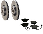 2 Brembo Front Rotors Opparts Brake Pad Set Kit 4-cars W/ 288 Mm Disc For Audi