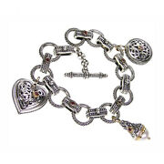 Charm Bracelets For Girls And Women's 18k Yellow Gold And Sterling Silver