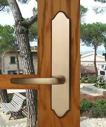 Fpl Tuscany Entry Door Lever Set And Back Plates With Deadbolt