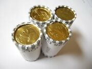 4x Unsearched Circulated Small Dollar Coin Rolls 100 Presidential S.b.a Saca
