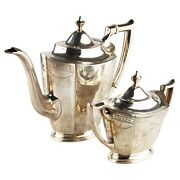 Vintage International Silver Company Sterling Silver Coffee Pot And Sugar Bowl