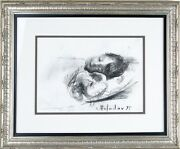 Leonid Balaklav Untitled Sleeping Child Charcoal On Paper Signed And Dated 1995