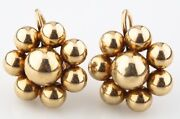 And Co. Vintage 14k Yellow Gold Flower Earrings W/ Screwbacks And Box