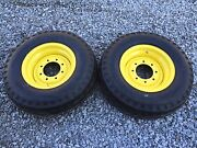 2 New 11l-16 Backhoe Tires/wheels/rims For Ford 555 And 655 2wd - F3 12 Ply Rating
