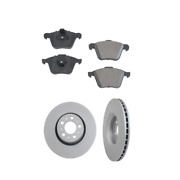 2 Zimmermann Front Rotors Opparts Pad Set Kit For Cars W/ 316mm Disc For Volvo