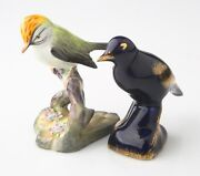 Lot Of 2 Porcelain Bird Figurines Staffordshire And Limoges Great Condition