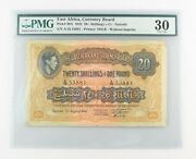 1942 East Africa 20 Shillings Or 1 Pound Vf-30 Pmg Currency Board /- Andpound P-30a