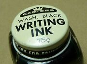 Antique Writing Ink Bottle Carterand039s Very Rare Springfield For Fountain Pen