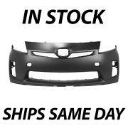 New Primered - Front Bumper Cover Replacement For 2010 2011 Toyota Prius Base