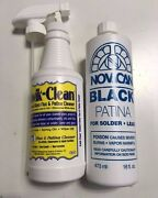 Novacan Black Patina For Lead 16oz And Kwik-clean Flux Cleaner - 16oz