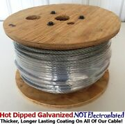 Aircraft Steel Cable Wire Rope 250and039 5/16 7x19 Hot Dipped Galvanized Steel Cable