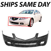 New Primered - Front Bumper Cover Replacement Fascia For 2004 2005 Acura Tsx