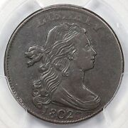 1802 S-229 R-2 Pcgs Xf 45 Draped Bust Large Cent Coin 1c