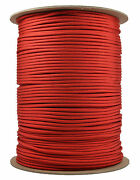 Imperial Red - 550 Paracord Rope 7 Strand Parachute Cord - 1000 Foot Spool