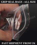 Grip Seals Plastic Bags Plain Write On Panel Heavy Duty All Sizes Types Cheap