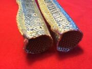 50 Ft Aluminized Heat Shield Sleeve Insulated Cover Wire Hose Cover Wrap 3/4