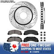 Front Drill Slot Brake Rotors +ceramic Pads For 2010 2011 2012 - 2019 Ford F-150
