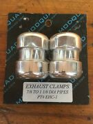 Exhaust Clamps Motorcycle Modquad 7/8 To 1 1/8 Diameter Pipes P/n 376539 Nos