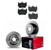 2 Rear Brembo Rotors Pagid Brake Pad Set Kit For Cars W/ 330 Mm Disc For Porsche