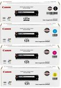 2 Sets 8 Toners Genuine Virgin Empty Canon 131 Toner Cartridges All Clrs Kcmy