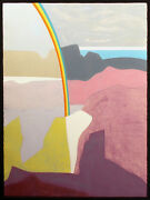 Clare Romano Rainbow Canyon Signed Numbered Collagraph Art Southwestern Obo
