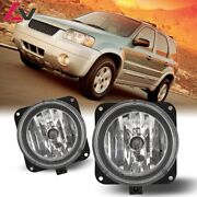 For Ford Escape 05-07 Clear Lens Pair Bumper Fog Light Lamp Replacement