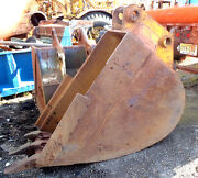 Used Large H/d 39 X 53 Excavator Digging Bucket W/teeth In Good Condition