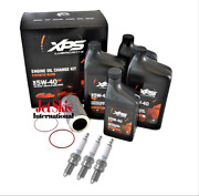 Sea Doo 4 Tec Xps Rotax Engine Oil Change Kit With Spark Plugs And Filter Seadoo