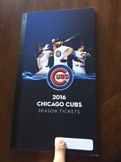 2016 Chicago Cubs Full Season Ticket Book Uncut Unsued Stubs No Playoffs World
