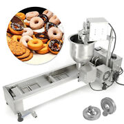 Automatic Donut Maker Making Machine Wide Oil Tank Free 3 Sets Mold Commercial