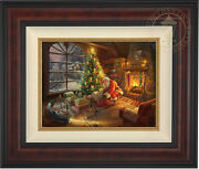 Thomas Kinkade Lionel Santaand039s Special Delivery 12 X 16 Le S/n Canvas Framed