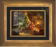 Thomas Kinkade Santaand039s Special Delivery 12 X 16 Le G/p Canvas Framed Lionel