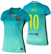 Nike Lionel Messi Fc Barcelona Womens Third Jersey 2016/17