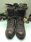 Distress Vintage Usa L.l. Bean Danner Oxblood Leather Lace Up Hunting Boots 10d