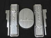 Belair Vintage Chevy Small Block Tall Valve Cover Machined 55 56 57 Breahters