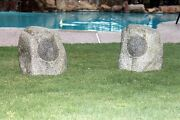 Awesome Wireless Bluetooth Rock Speakers 1 Pair - Garden Yard Stereo Outdoor