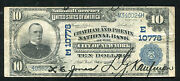 1902 10 The Chatham And Phenix Nb Of New York, Ny National Currency Ch. 10778
