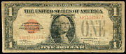 1928 1 One Dollar Red Seal Puerto Rico Legal Tender United States Note