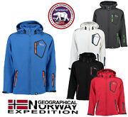 Official Geographical Norway Tephiline Menand039s Softshell Rain Sports Jacket