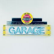 4 Ft Chevrolet Garage Gas Oil Service Neon Sign - Made In Usa