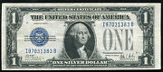 Fr. 1602 1928-b 1 Silver Certificate Funnyback Currency Note Extremely Fine