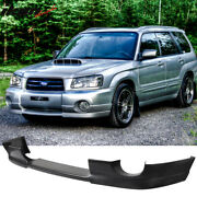 Fits 03-05 Subaru Forester Sg5 Ds Style Front Bumper Lip Spoiler Pu