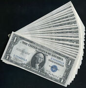 25 Consecutive 1935-a 1 One Dollar Silver Certificates Gem Uncirculated