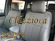 2012-2015 Toyota Tacoma Double Cab   Clazzio Leather Seat Cover 1st+2nd Rows
