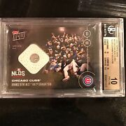 2016 Topps Now 572-b Relic Card /99 Chicago Cubs Advance Bgs 10 Pristine Pop 1
