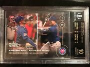 Topps Now Card 655 Kris Bryant Anthony Rizzo Become 1st 3 And4 Hitters Pristine