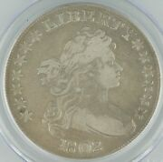 1802 Us Draped Bust Dollar 1 Graded By Pcgs Genuine Narrow Normal Date Km32
