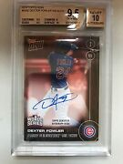 Dexter Fowler Auto World Series Card /10 Cubs - Sold Out Bus 9.5/10 Perfect
