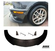 Front Splitter W/ 2 Winglets And 2 Support Rods 2007-2009 Shelby Gt500 Mustangs